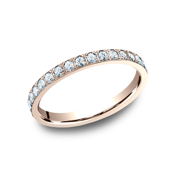 14K Rose Gold 0.32ctw Diamond Wedding Ring Band