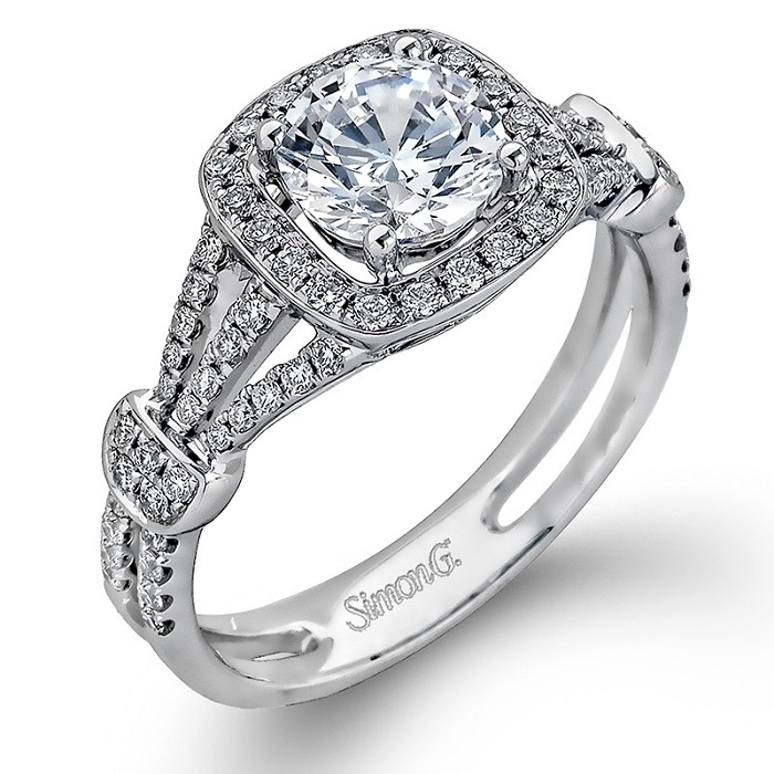 Classic style engagement rings